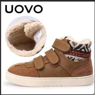 UOVO מותג חורף נעלי ספורט לילדים אופנה חם ספורט הנעלה לילדים גדול בנים ובנות נעליים יומיומיות גודל 30 #-39 #