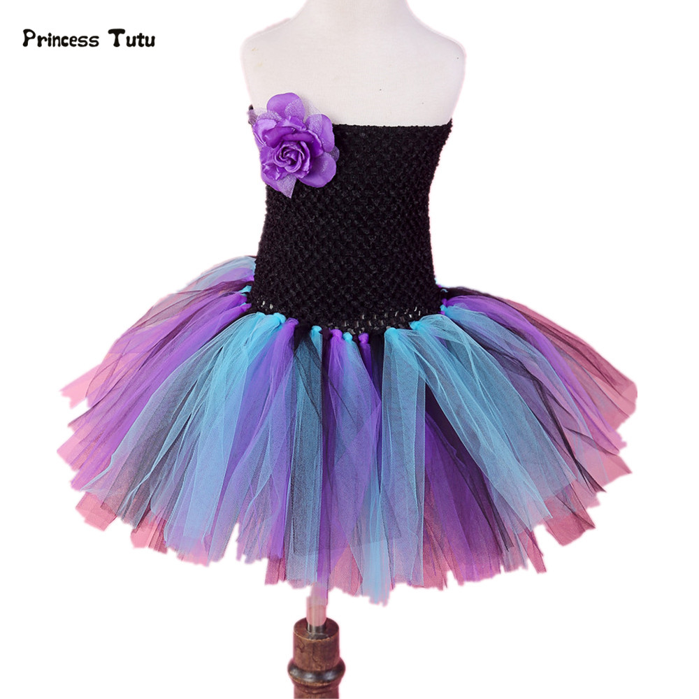 Princess Girls Peacock Tutu Dress Kids Birthday Party Costume Girls Ball Gown For Pageant Birthday Wedding Performance Vestidos princess girls peacock tutu dress