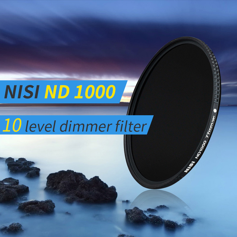 лучшая цена nisi ND1000 10 level dimmer ultra-thin neutral density Filter ND3.0 filter with 12-layer coating for canon nikon DSLR cameras