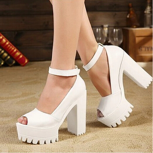 6b3f9948770 New 2017 Sexy Open Toe High-heeled Shoes Thick Heel Sandals Hasp Fashion Platform  Shoes Women s Sandals Free Shipping