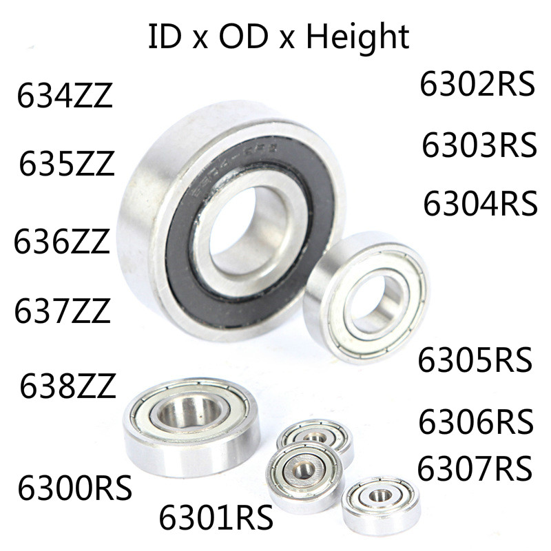 10Pcs 693ZZ Carbon Miniature Ball Bearings 3*8*4mm Double Shielded Bearin SN