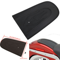 Motorcycle Parts Motorbike Moto Leather Flame Rear Fender Bib For Harley Sportster XL 883 1200 2004 2015 Black Solo Seat Cover