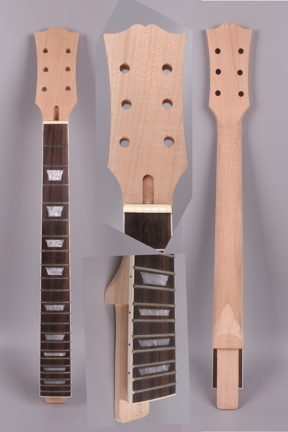 LP unfinishede electric  guitar neck 22 fret Locking nut 628mm 24.75'' mahogany  made  and  rosewood  fingerboard 008# partners lp cd
