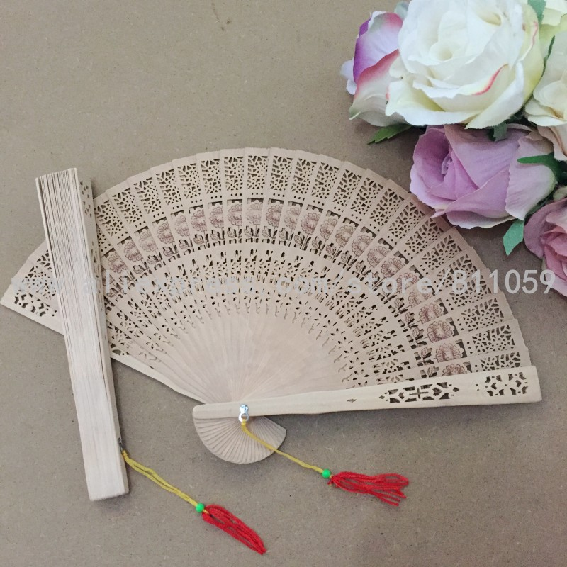 Envío gratis 50 unids / lote diseño de girasol ventilador de madera - Para fiestas y celebraciones - foto 1