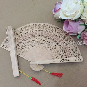 Free Shipping 50pcs/lot sunflower design fragrance wood fan Chinese hand fan for wedding favor gift