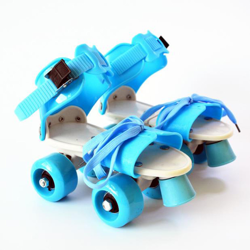 New Children Two Lines Roller Skates Double Row 4 Wheel Skating Shoes Adjustable Size Sliding Slalom Inline Skates Gifts For Kid