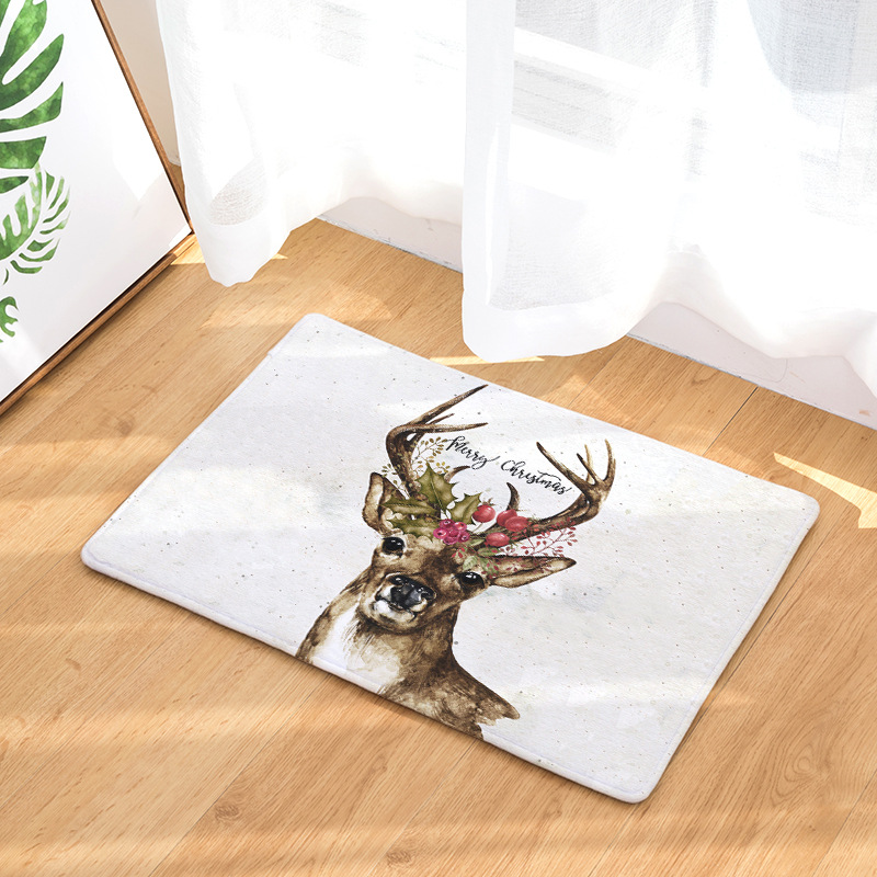 Elk Printed Doormats For Entrance Door Anti-slip Bathroom Carpets Bedroom Floor Mats Abs ...