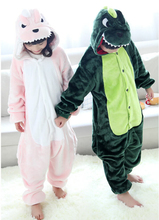 Dinosaur Cartoon Costumes Cosplay Jumpsuit Costume For Children Kids Onesie Pajamas Clothing For Halloween Carnival