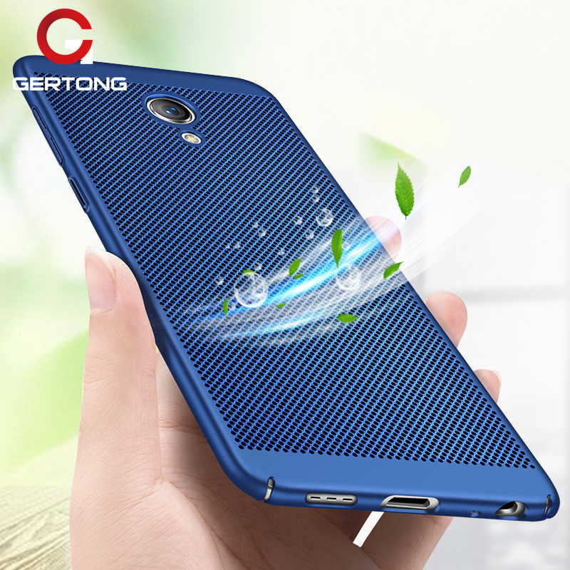 GerTong Hard PC Phone Case For Meizu Pro 7 Plus M5S M5 Note M3 Note Heat Dissipation Breathable Protect Shell Fudas M6 M5C