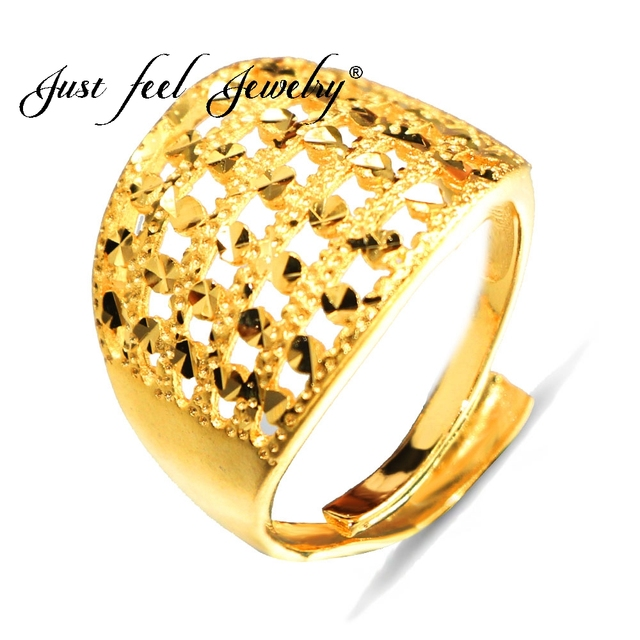 Just Feel African Ethiopian Unisex Free Size Ring Gold Color Copper