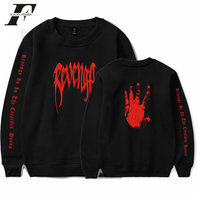 2018 rapper XXXTentacion capless hoodie sweatshirt men women hip hop clothing revenge hoodie O-neck formal sweatshirt top