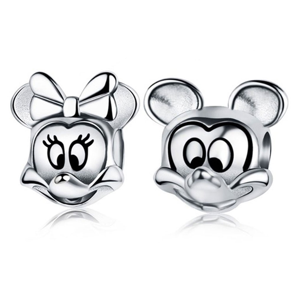 DIY Minnie Charms Original 100% Authentic 925 Silver Beads Fit Pandora Charms bracelets & Necklaces Jewelry Making Berloque strollgirl car keys 100% sterling silver charm beads fit pandora charms silver 925 original bracelet pendant diy jewelry making