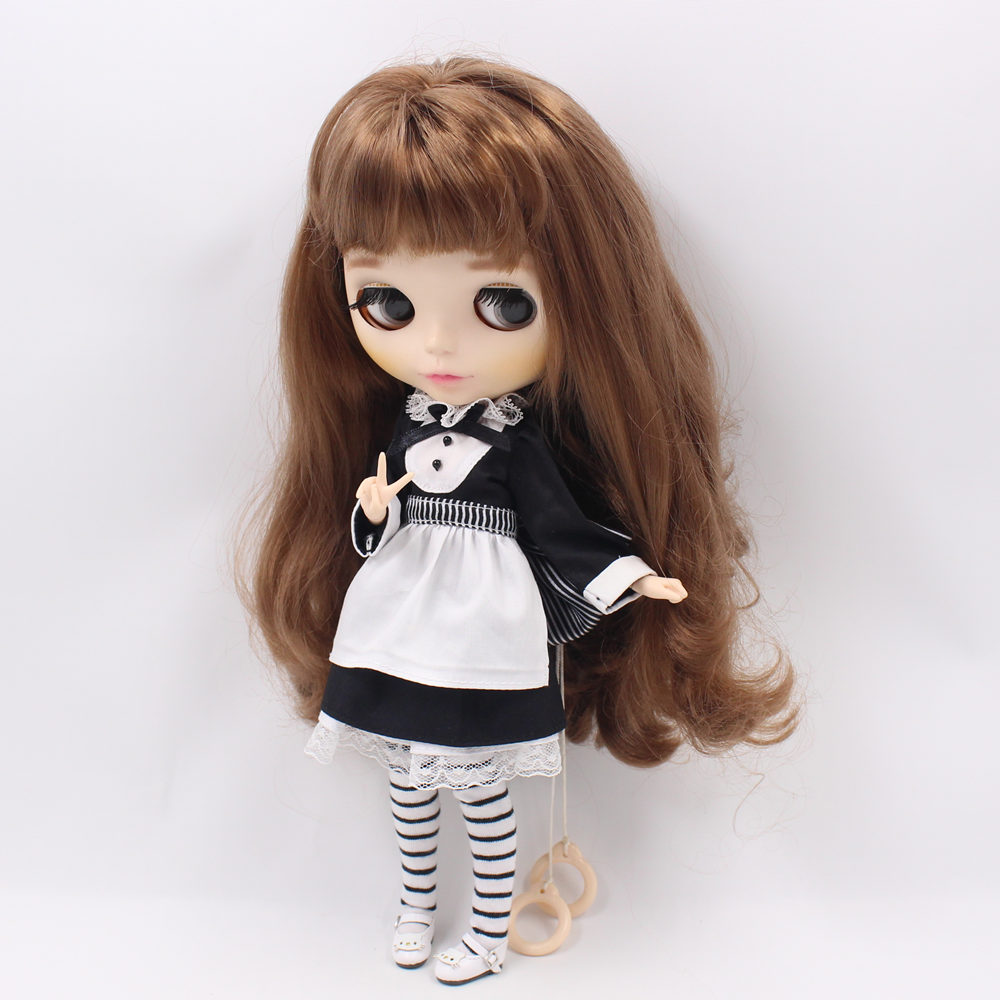 12/'/' Neo Takara Blythe Dolls Dress Clothes Outfit Check Hand Made