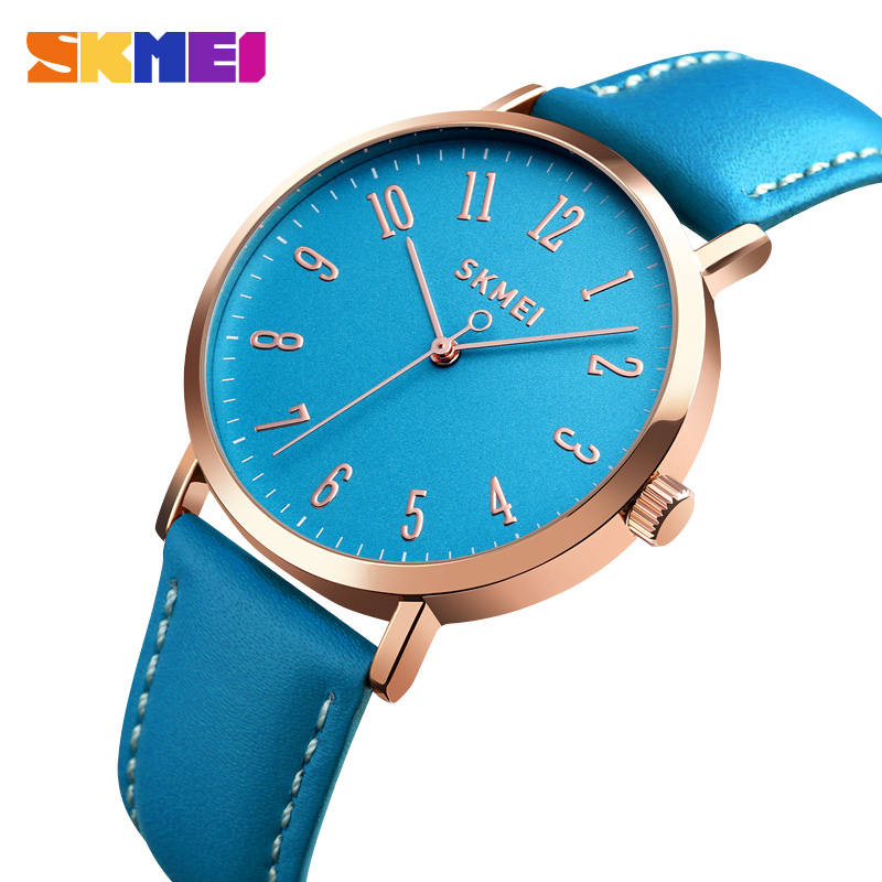 SKMEI Women Watches Ladies Wristwatch Leather Strap Luxury Wristband 3bar Waterproof Fashion Quartz Watch Relogio Feminino 1463