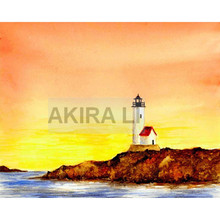 Diamond painting landscape full square seaside lighthouse rhinestone diamond cross stitch embroidery home decoration 15