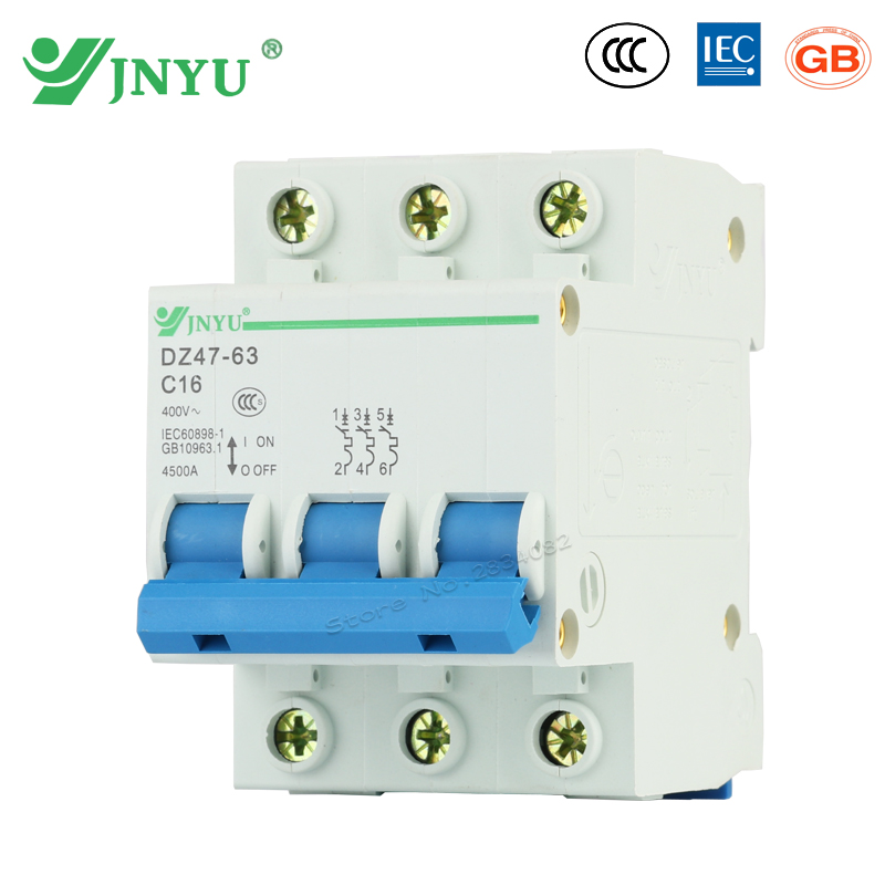 detail feedback questions about 3p 3pole 6a 10a 32a 63a 16a 400vdetail feedback questions about 3p 3pole 6a 10a 32a 63a 16a 400v~ mini circuit breaker c type c curve overload short circuit isolation protective dz47 63
