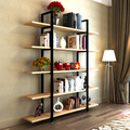 Bookcases Living Room Furniture Home Furniture solid wood+steel bookcase bookshelf 120*182cm can customize size whole sale 2016