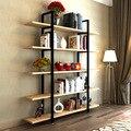 Estantes Móveis de Sala de estar Móveis Para Casa estante estante de madeira maciça + aço 120*182 cm pode personalizar todo o tamanho venda 2016