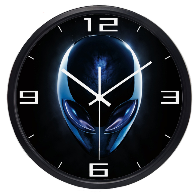 Amazing Us 30 4 20 Off Extraterrestrial Et Wall Clock Hot Fashion Silent Large Indoor Outdoor Wall Clock Home Decor In Wall Clocks From Home Garden On Download Free Architecture Designs Rallybritishbridgeorg
