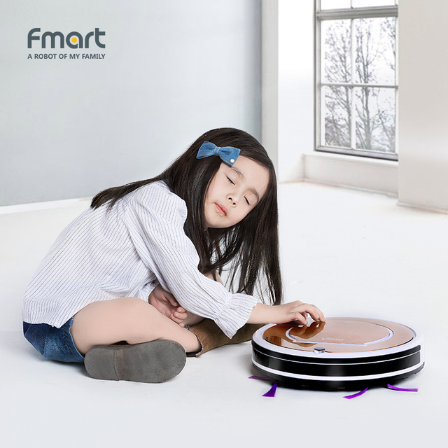 Fmart E-R302G(S) Intelligent Robotic Cleaner 3 in 1 Suction+Sweep+Mop Robot Vacuum Cleaner Home Appliances Brushs HEPA Filter