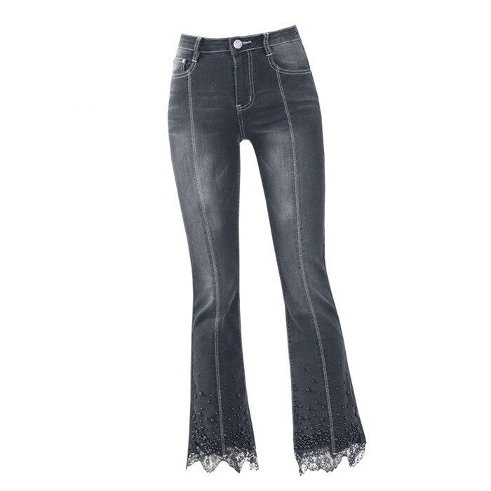 Rilievo Addome Autunno In Coniglio A 3297 Merletto Dei Del Alta perline Vita Micro Primavera E Femminili Jeans Stretch 5qBOOY