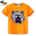 short sleeve children t shirt, boys girls t shirt kids wear  clothes color 24 black white lion Strong chowhound