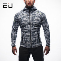 EU Men Dry Fit Running Shirts Long Sleeve Running Jackets Men Fitness Workout Sport Sweatshirts Bodybuilding