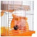 TFBC-Gaiola de Hamster Gerbil Rato Pequeno Animal de Estimação Quente 2 Andares Níveis Andar Garrafa de Água Roda