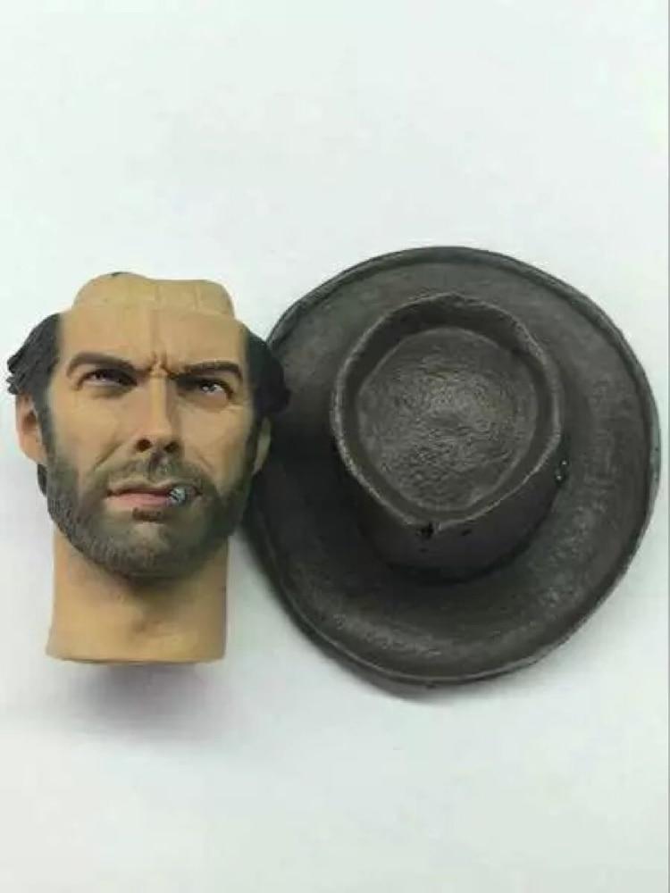 1/6 Scale Clint Eastwood The Good Head Sculpt For Hot Toys Body headplay HW/Neck
