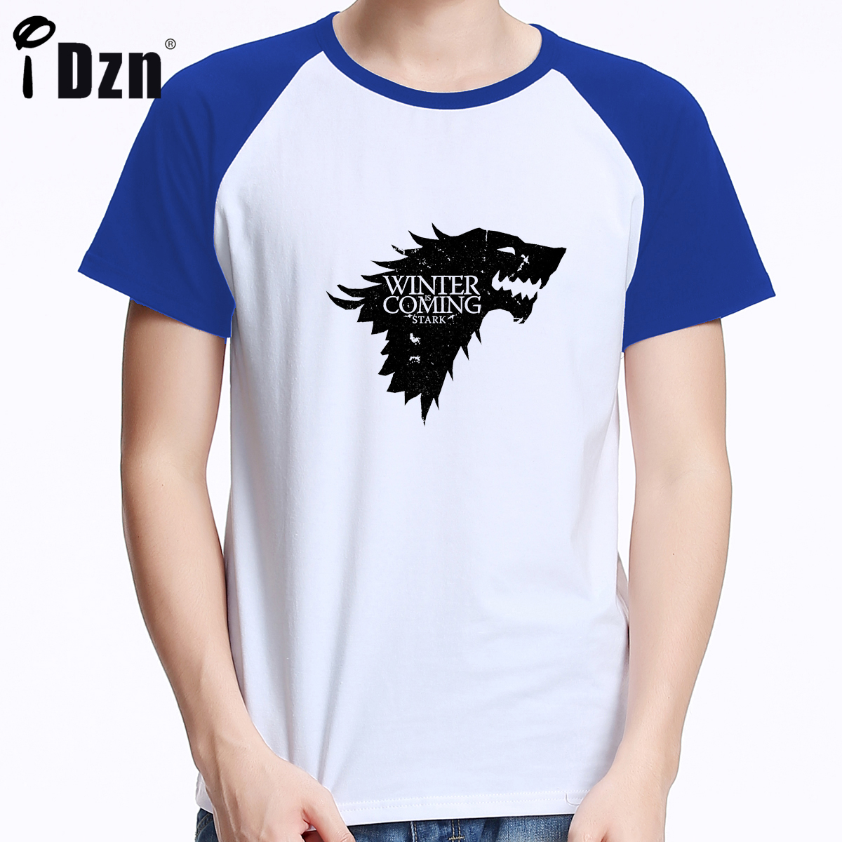 Game of Thrones Winter Is Coming Stark Family Wolf Black T-Shirt Tee Men Costume