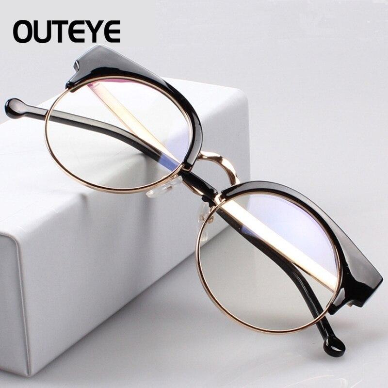3bc3a8d20a OUTEYE Vintage Myopia Optical Glasses Frame Women Round Eyeglasses Brand  Men Cat Eye Glasses Frame Clear Lens Reading glasses-in Eyewear Frames from  Apparel ...