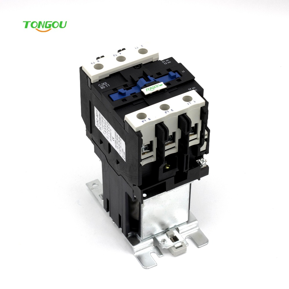 80A DC Contactor 3 Pole 3 Phase CJX2 Type LC1 8011 D80 TOC2-8011D sayoon dc 12v contactor czwt150a contactor with switching phase small volume large load capacity long service life