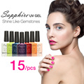 Sapphire 15Pcs/set Nail Gel Newest 80 Fashion UV Gel Polish 7.3 ML Soak Off Nail Gel Polish Best on AliExpress