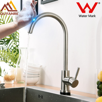 Quyanre SUS304 Brushed Nickel Smart Touchless Sense Kitchen Faucet  Stainless Stee Touch Faucet Kitchen Sensitive Touch Control