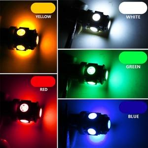Image 5 - 10 Uds T11 BA9S 5050 5 SMD bombilla LED blanca fuente de luz del coche 12V lámpara T4W 3886X H6W 363 de alta calidad