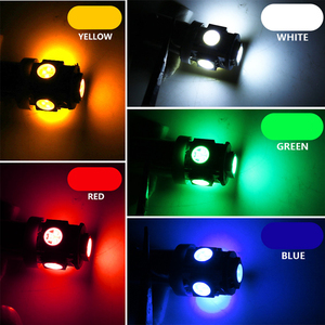 Image 5 - 10PCS T11 BA9S 5050 5 SMD LED Weiß Glühbirne Auto lichtquelle Auto 12V Lampe T4W 3886X H6W 363 hohe Qualität