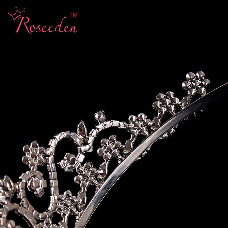 Женская Хрустальная корона лента для волос Винтаж со стразами и жемчугом свадебная тиара свадебный аксессуар партия Цветочные украшения с серебряным покрытием re95