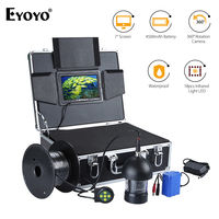 EYOYO 7inch 360 Degree 8GB DVR Underwater Fishing Camera Fish Finder Infrared HD 1000TVL With 20M