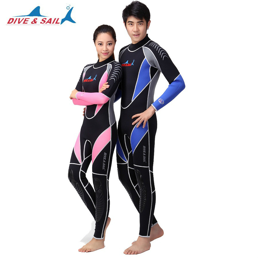 3mm Neoprene Men&Women Scuba Diving Wetsuit Snorkeling Surfing Swimming Suit Keep Warm Spearfishing Full Body Surf Wet Suit sbart 3mm scuba diving wetsuit for men s neoprene one piece full body blue dive surf snokeling swimming keep warm diving suit