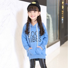 Princess Children's Clothing Child Letter Hoody Autumn Winter New 2016 Girls Leisure Fashion Hoodies Sweaters 2 Colors Size4-14