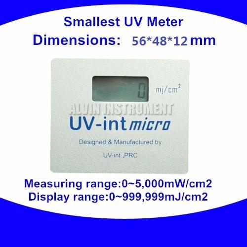 УФ-измеритель, Ультрафиолетовый интегратор, радиометр, УФ-тестер, детектор, монитор, проверка, самый маленький УФ-метр, 56X48X12 мм