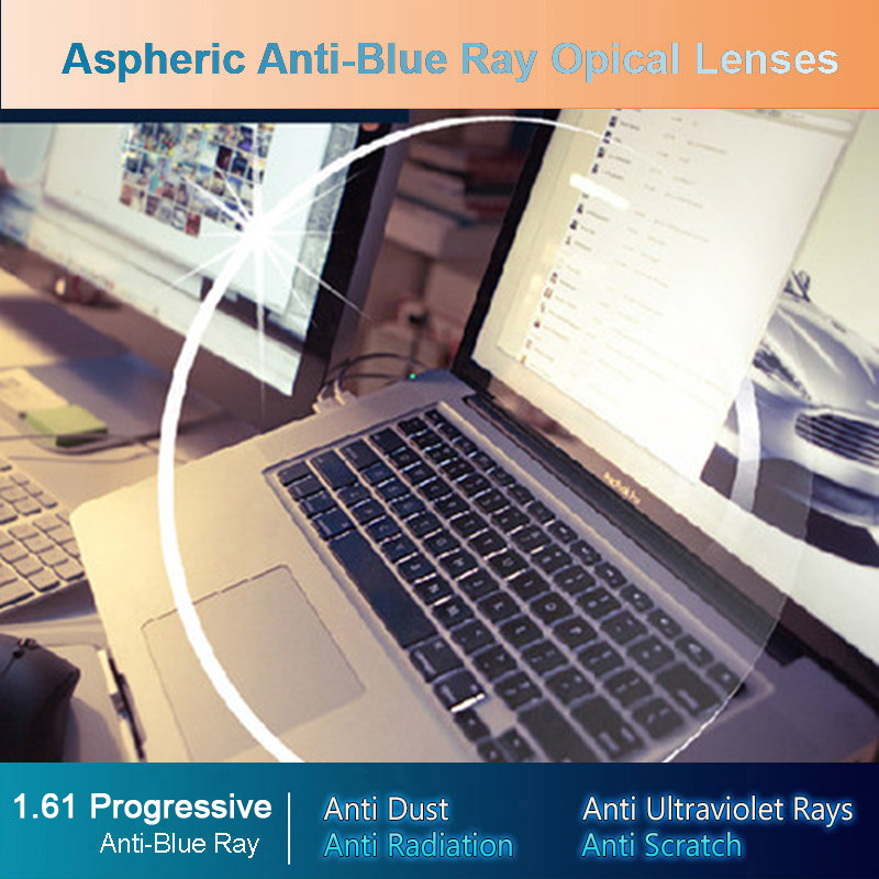 Logorela Anti-Blue Ray Lens 1.61 Free Form Progressive Prescription Optical Lens Glasses Beyond UV Lens For Eyes Protection