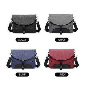 Image 4 - Men Canvas Detachable Messenger Bags High Quality Waterproof Shoulder Bag + Briefcase For Business Travel Crossbody Bag