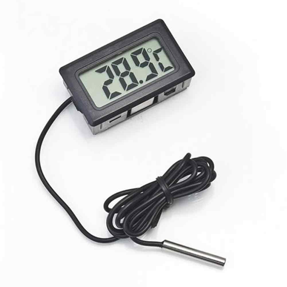 SaiDeng البسيطة LCD ميزان الحرارة الرقمي ثلاجة برادات ميزان الحرارة للاسماك خزان ماء-45