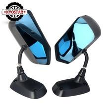 F1 Стиль углеродного волокна голубое зеркало металлический кронштейн боковое зеркало Универсальный Гоночный Дрифт автомобиля боковое зеркало заднего вида
