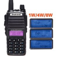 BaoFeng UV 82 Plus Walkie Talkie 8W Max Long Range CB Scanner Transmit Police Fire Rescue Dual Band 2 Way Radio HF Transceiver
