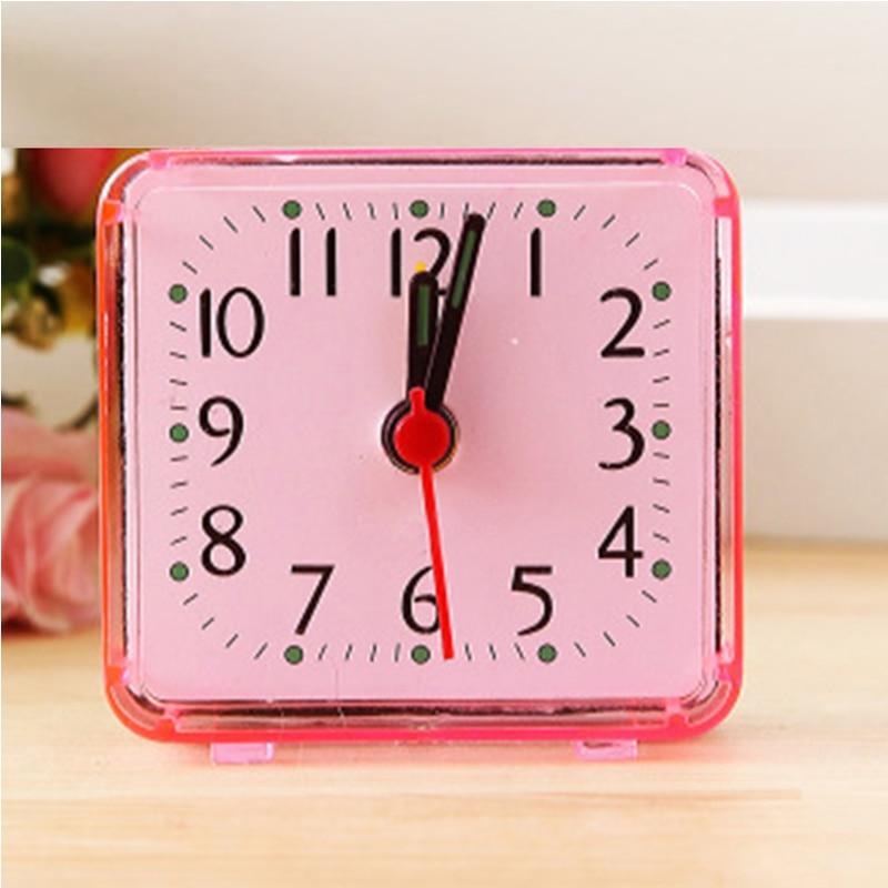 2018 New Clock Bedroom Desk Small Cute SquareBed Compact Travel Quartz Beep Alarm Clock Cute Portable Fashion Clock For Studen
