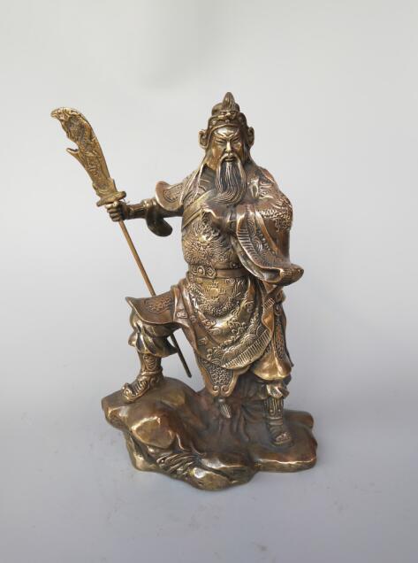Statue en laiton chinois Guan GongStatue en laiton chinois Guan Gong