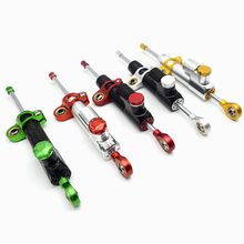 цена на for MT07 MT09 FZ MT 09 YZF R1 R6 CNC Damper Steering StabilizerLinear Reversed Safety Control Over for for z800 z750 yamaha r6