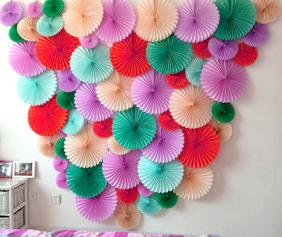 Decorative paper fans picture more detailed picture for Decoration paper